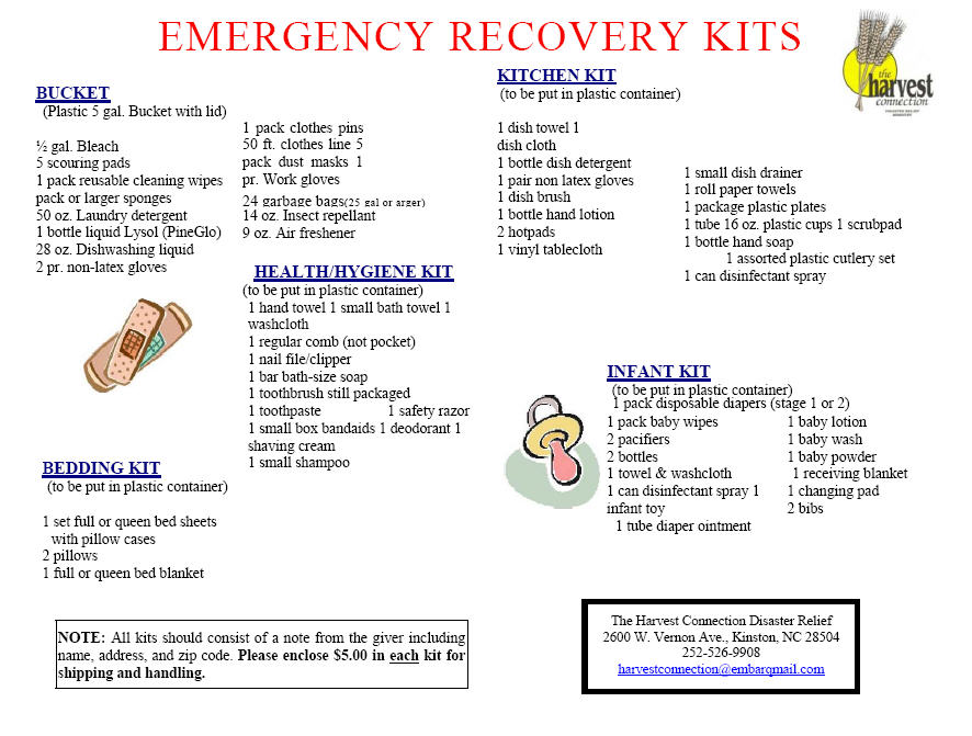 Harvest Connection Emergency Recovery Kit Flyer